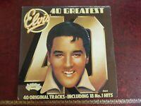 Elvis Presley: 40 Greatest Hits Vinyl 2 x LP Arcade 1975 Vinyl & Rare Poster
