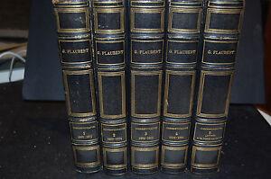 oeuvres complètes de Flaubert, correspondance et lettres à sa nièce, 5 volumes