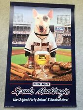 Budweiser Bud Light Spuds MacKenzie Original Party Animal & Baseball Hero Poster