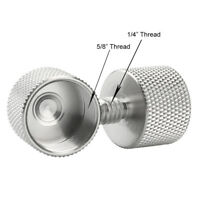 """2pcs 5/8""""-27 Female to 1/4""""-20 Male Thread Microphone Screw Adapter Stand Silver"""
