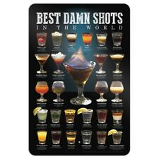 Best Shots in the World Alcohol Shot Glasses Home Business Office Sign