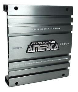 Pyramid PB918 2000W 2 Channel Car Audio Amplifier Power Amp Bridgeable MOSFET