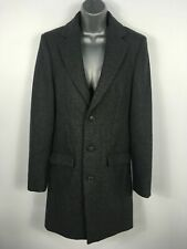 BNWT WOMENS LA REDOUTE R ESSENTIEL GREY WOOL BLEND BUTTON UP WINTER COAT SIZE XS