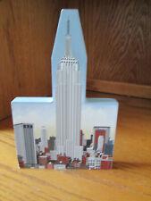 Shelia's 1998 Empire State Building With Skyline Wood Shelf Ledge Sitter