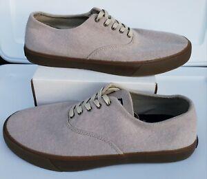 Sperry Top-Sider Men's Captain's CVO Cement Beige Wool Sneakers Shoes Sz 11 M