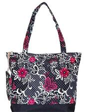 Black Floral Print Oversized Tote Bag NEW WITH TAGS in ORIGINAL PACKAGE