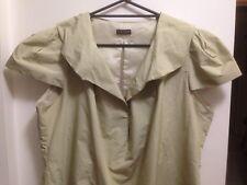 CARLA ZAMPATTI NWOT Creamy Gold Cap-Sleeve Dress Sz16 Formal / Professional