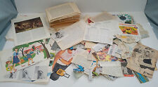 vintage large lot paper ephemera book page picture etc. collage mixed media lot1