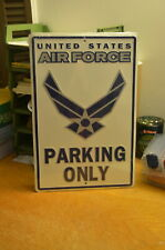 "Metal sign 12""x18"" - Air Force Parking."
