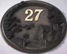 Cottage - House Sign / Plaque with Number