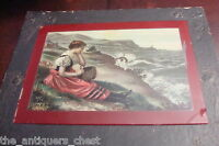 """Antique McLoughlin Brothers 1902 Print on Glass """" Charms of Nature"""" # 56?[8]"""