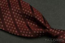 """GIORGIO ARMANI Burgundy Polka Dot Striped 100% Silk Mens Luxury Tie - 3.875"""""""