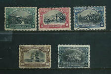 5 Stamps - Chile 1910 Independence issue