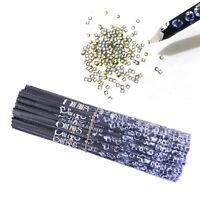 Wax Resin Pencil Rhinestone Picker Up Gem Jewel Bead Nail Art 1PC Y9D6