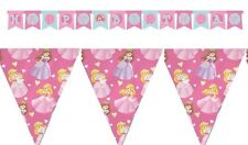 2 Pce Princess Banner Party Pack Happy Birthday Letter Banner & Bunting - New