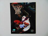 """""""New York Knicks"""" Trevor Ariza Hand Signed 8X10 Color Photo CAS COA"""