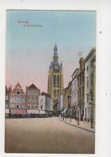 Kortrijk H Martinus Kerk Belgium Vintage Postcard 356b