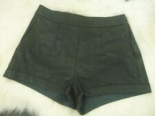 MINKPINK Faux Leather Shorts Black - XS