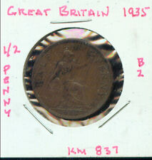 WORLD COINS GREAT BRITAIN 1935  HALF PENNY VF (2G366)
