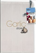 Eddingtons Garlic Storage Bag Cotton Zip Opening Keep Fresh Vegetable Fresher
