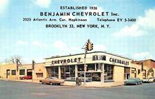 Brooklyn NY Benjamin Chevrolet Dealership postcard