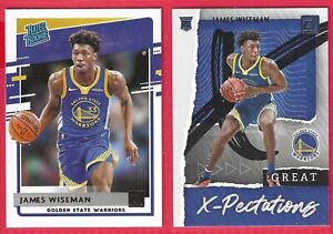 2020-21 Donruss James Wiseman RC #226 W/Great X-Pectations #2 Golden State