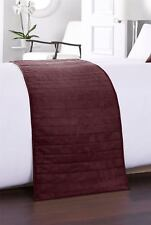 FAUX SUEDE BURGUNDY LARGE BED RUNNER 50CM X 240CM