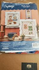 Craftways Molly Rae Paper Doll Plastic Canvas Kit #270921 needle point sticking