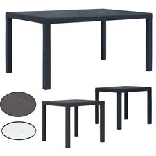 Gartentisch Beistelltisch Rattan-Optik Kunststoff Anthrazit Tisch Möbel