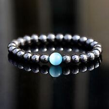 e8674a030f1a8 Hematite Stone Beaded Bracelets for Men for sale | eBay