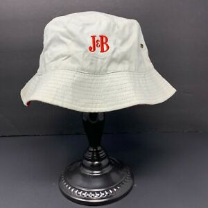J & B  Blended Scotch Whiskey Bucket Hat White OSFA Logo Fishing Cap EUC