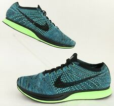 Nike FlyKnit Racer Running Shoes 'Blue Gecko' Us 12 Fits 11-11.5