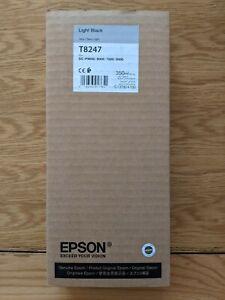 Epson Genuine T8247 Light Black Cartridge ORIGINAL 350ml ink dated 2021