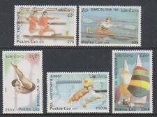 Laos - 1991, Olympic Games, Barcelona, 3rd series set - Mnh - Sg 1231/5