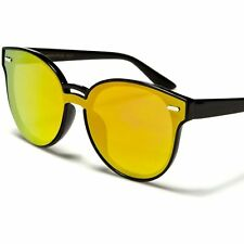 Fashion Upscale Foxy Designer Red Mirrored Flat Lens Black Cat Eye Sunglasses