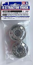 Tamiya 56517 Ruedas Delanteras De Metal Cromado (ancho 22 mm/Acabado Mate) Nuevo en Paquete