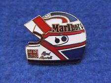NIGEL MANSELL MARLBORO FORMULA 1 MOTOR RACING, GRAND PRIX HELMET LAPEL PIN BADGE