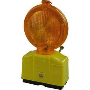 1x LED Baustellenlampe Bau  Blinkleuchte mit 2 Batterien und 1x Schlüssel