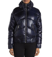 GUESS Women's Navy Quilted Puffer Jacket Size L
