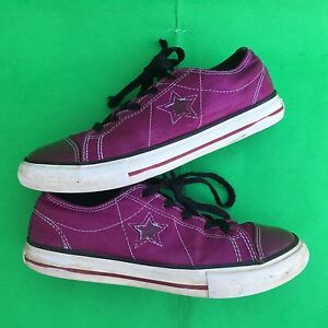 CONVERSE ONE STAR junior's  purple walking shoes size--3