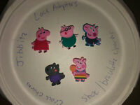 Peppa Pig Lot Of 5 Crocs, Bracelet, Lace Adapter Charms, Jibbitz