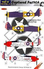 LF Models Decals 1/72 CAPTURED FOCKE WULF Fw-190A Part 2