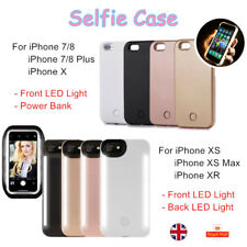 For iPhone 11 XR XS Max 8 7+ Plus LED Light Up Selfie Lighting Phone Case Cover