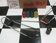 """THE WHEELIE KING"" Muscle Bike Banana Seat Bicycle Wheelie BAR w/ BLACK Wheels"