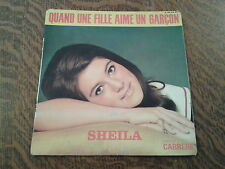 45 tours sheila 17e disque quand une fille aime un garcon