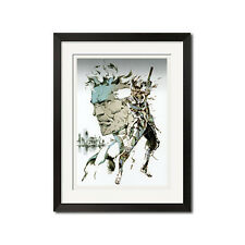 Metal Gear Solid Snake + Raiden Cybernetic Killing Machine Poster Print