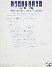 TOM WAITS Handwritten Lyrics - 'Wrong Side Of The Road' - reprint