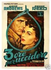 3 ORE PER UCCIDERE [THREE HOURS TO KILL] (1954) Ital 2-fogli poster by Ballester