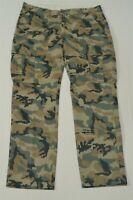 Levi's 34 x 32 Khaki Green Camo 541 Athletic Fit 24877 Cargo Pants