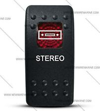 Labeled Contura II Rocker Switch Cover ONLY, Stereo (Red Window)